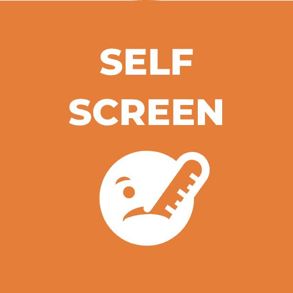 Self Screen for Symptoms